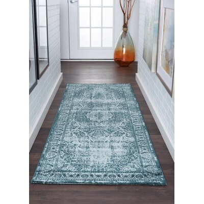 Josue Blue Area Rug Rug Size: Runner 3 x 10