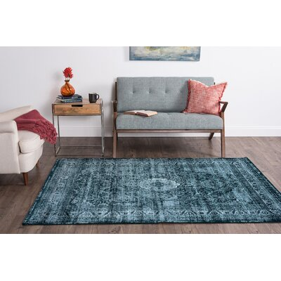 Josue Blue Area Rug Rug Size: Rectangle 4 x 6
