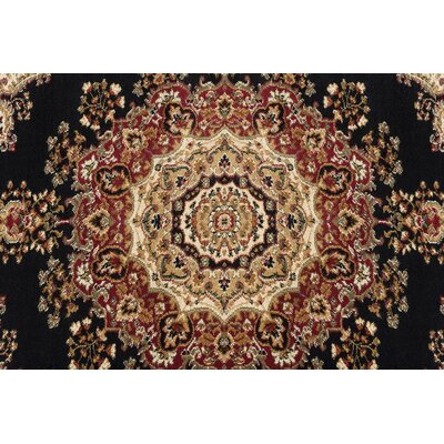 Clarence Beige/Black Area Rug Rug Size: Rectangle 2  x 10