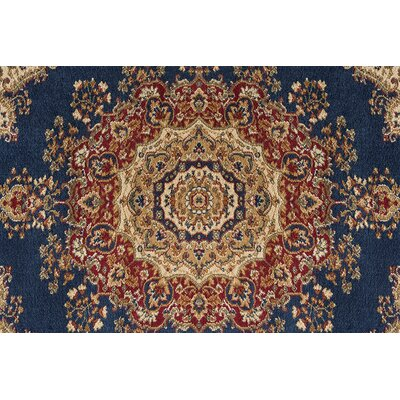 Clarence Navy/Blue Area Rug Rug Size: Rectangle 2 x 10