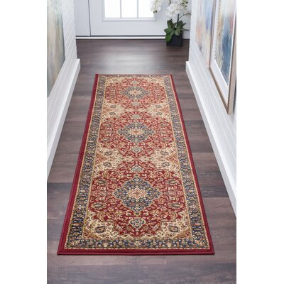Clarence Red Area Rug Rug Size: Rectangle 2 x 10