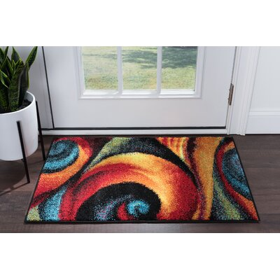 Weisman Red/Blue Area Rug Rug Size: Rectangle 2 x 3