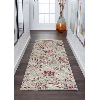 Elmer Grey/Green Area Rug Rug Size: Runner 2 x 10