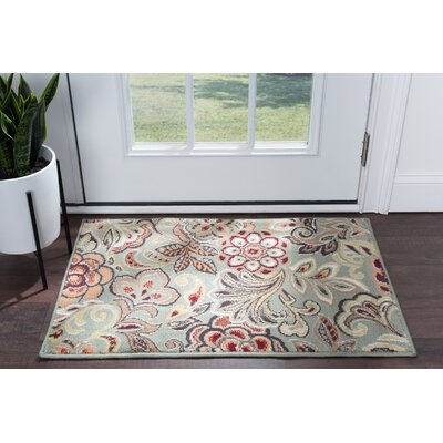 Elmer Grey/Green Area Rug Rug Size: Rectangle 2 x 3