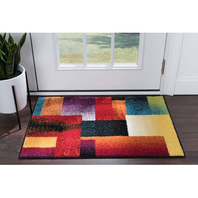Weisman Red/Yellow Area Rug Rug Size: Rectangle 2 x 3