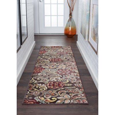 Brightling Brown Area Rug Rug Size: Runner 2 x 10