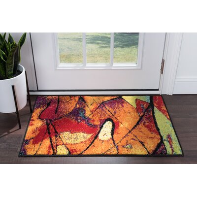 Weisinger Orange/Blue Area Rug Rug Size: Rectangle 2 x 3