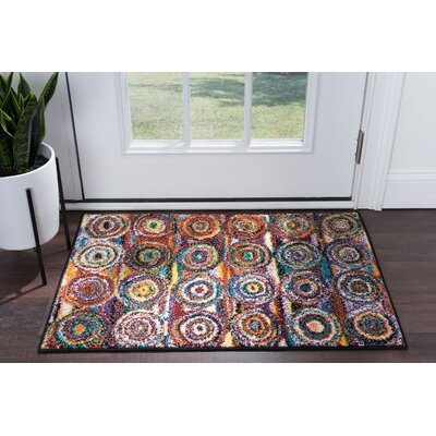 Elysee Contemporary Purple/Orange Area Rug Rug Size: Rectangle 2 x 3