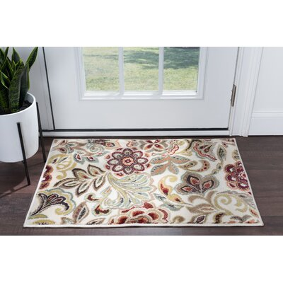 Brightling Ivory Area Rug Rug Size: Rectangle 2 x 3