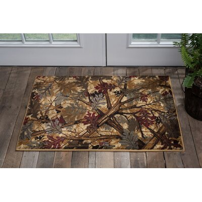 Venegas Lodge Scatter Brown/Red Area Rug