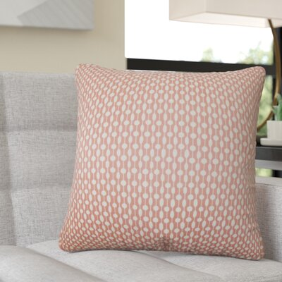 Recker Geometric Cotton Throw Pillow Color: Red