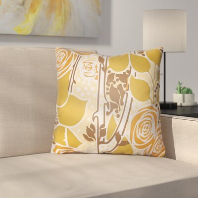 Capron Throw Pillow Size: 22 H x 22 W x 5 D, Color: Orange