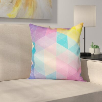 Triangles Dreamy Square Cushion Pillow Cover Size: 16 x 16