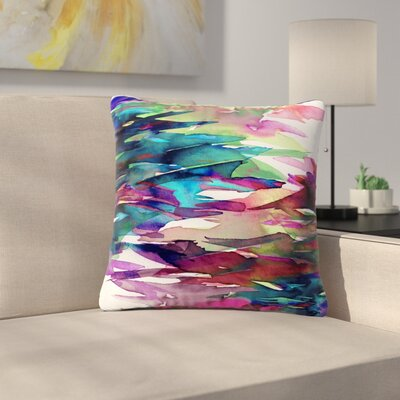 Ebi Emporium Fervor  Abstract Outdoor Throw Pillow Size: 18 H x 18 W x 5 D, Color: Magenta