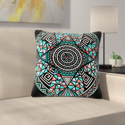 Pom Graphic Design Geo Glass Outdoor Throw Pillow Size: 18 H x 18 W x 5 D