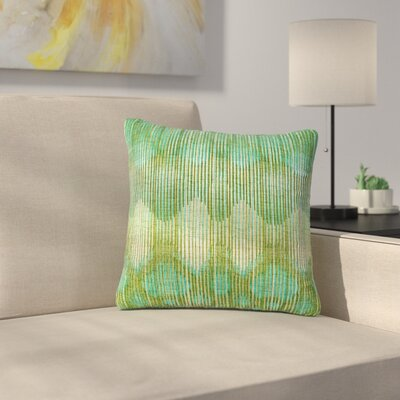 Vintage Ikat Throw Pillow Size: 18 H x 18 W x 6 D, Color: Green / Gold