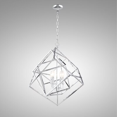 Ellenboro 4-Light Geometric Pendant Finish: Chrome