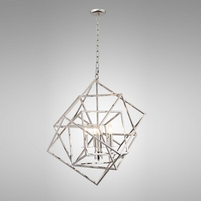 Ellenboro 4-Light Geometric Pendant Finish: Nickel