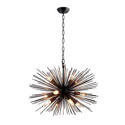 Kinyon 12-Light Sputnik Chandelier Size: 55 H x 24 W x 24 D