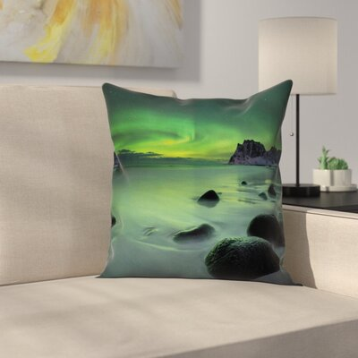 Magic Coastline Cushion Pillow Cover Size: 24 x 24