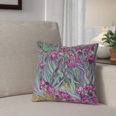 Morley Irises Double Sided Print Square Pillow Cover Size: 18 x 18, Color: Pink