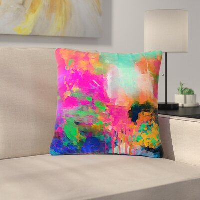 Oriana Cordero Montesilvano-Abstract Rainbow Painting Outdoor Throw Pillow Size: 18 H x 18 W x 5 D