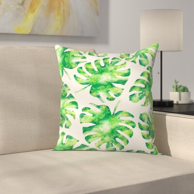 Monstera Leaves Throw Pillow Size: 20 x 20
