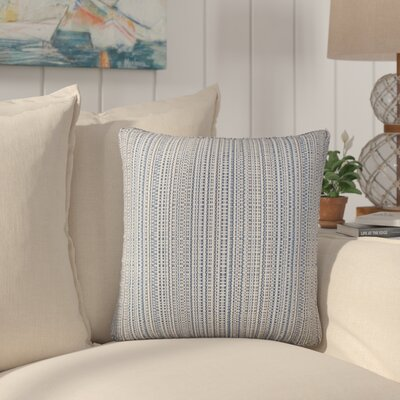 Sigsbee Striped Cotton Throw Pillow Color: Gray