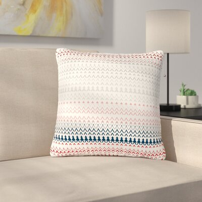 Bridgette Burton Revel Chevron Outdoor Throw Pillow Color: Coral, Size: 18 H x 18 W x 5 D