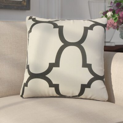 Giusto Geometric Linen Throw Pillow Color: Brown