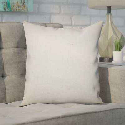 Portsmouth Solid Burlap Throw Pillow Color: White, Size: 18 H x 18 W