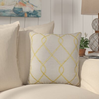 Larchwood Geometric Throw Pillow Color: Yellow