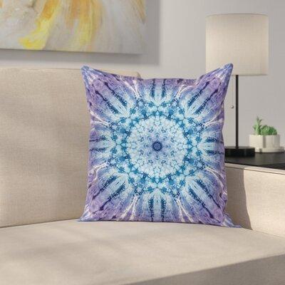 Vintage Mandala Ombre Boho Square Pillow Cover Size: 24 x 24