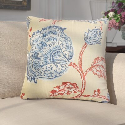 Frantz Floral Linen Throw Pillow