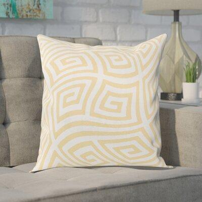 Adorno Throw Pillow Size: 16 H x 16 W, Color: Yellow Haze