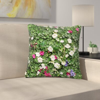 Susan Sanders Flower Vine Wall Nature Outdoor Throw Pillow Size: 18 H x 18 W x 5 D