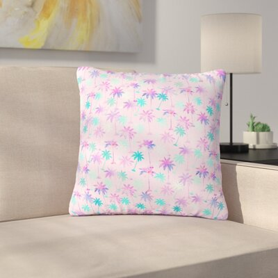 Marta Olga Klara Palm Tree Pattern Digital Outdoor Throw Pillow Size: 16 H x 16 W x 5 D