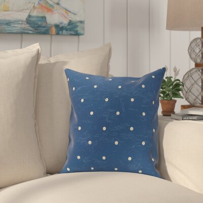 Pembrook Dorothy Dot Geometric Throw Pillow Size: 16 H x 16 W, Color: Blue