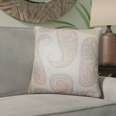 Southstoke Paisley Throw Pillow Color: Pink