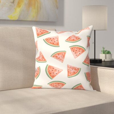 Jetty Printables Watermelon Throw Pillow Size: 18 x 18