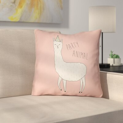 Sunseri Indoor/Outdoor Throw Pillow Size: 18 H x 18 W x 4 D, Color: Pink