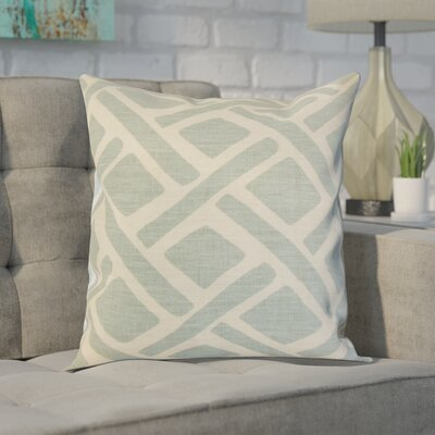Moton Linen Throw Pillow Color: Lagoon, Size: 18x18