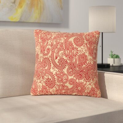 Fotios Pavlopoulos Floral Loop Outdoor Throw Pillow Size: 16 H x 16 W x 5 D
