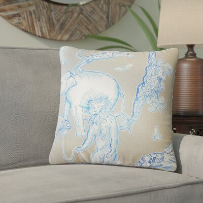 Wildhollow Graphic Cotton Throw Pillow Color: Azure