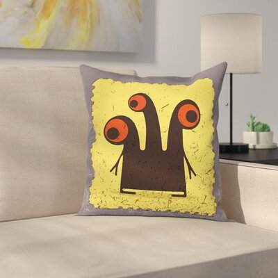 Trippy Creature Eyes Cushion Pillow Cover Size: 24 x 24