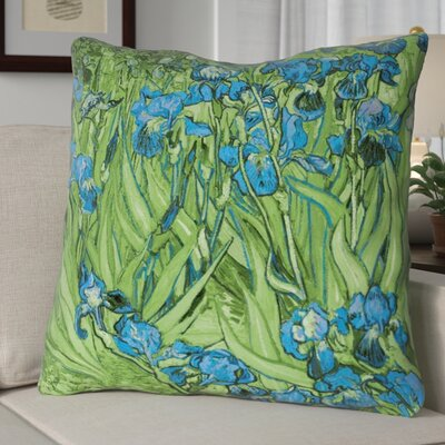 Morley Irises Euro Pillow Color: Green/Blue