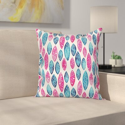 Artsy Formless Pattern Square Pillow Cover Size: 16 x 16