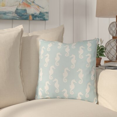 Gerry Sea Indoor/Outdoor Throw Pillow Size: 18 H x 18 W x 3.5 D, Color: Light Blue