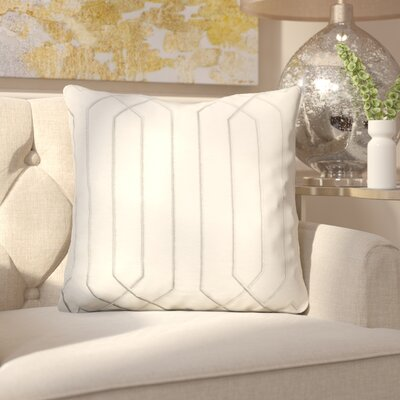 Kaivhon Traditional Linen Throw Pillow Size: 18 H x 18 W x 4 D, Color: Ivory