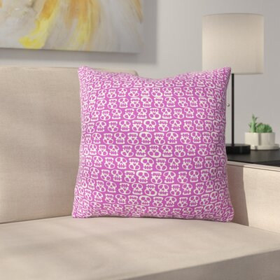 Skulls Throw Pillow Size: 16 H x 16 W x 4 D, Color: Purple